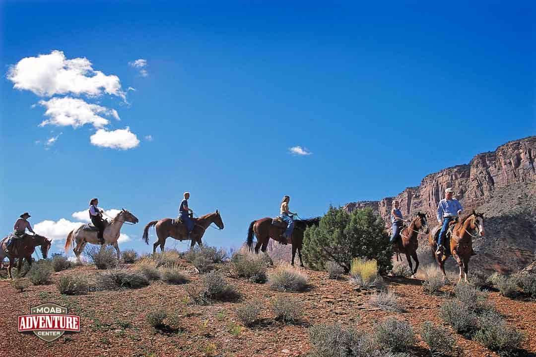 randonnée à cheval arches national park
