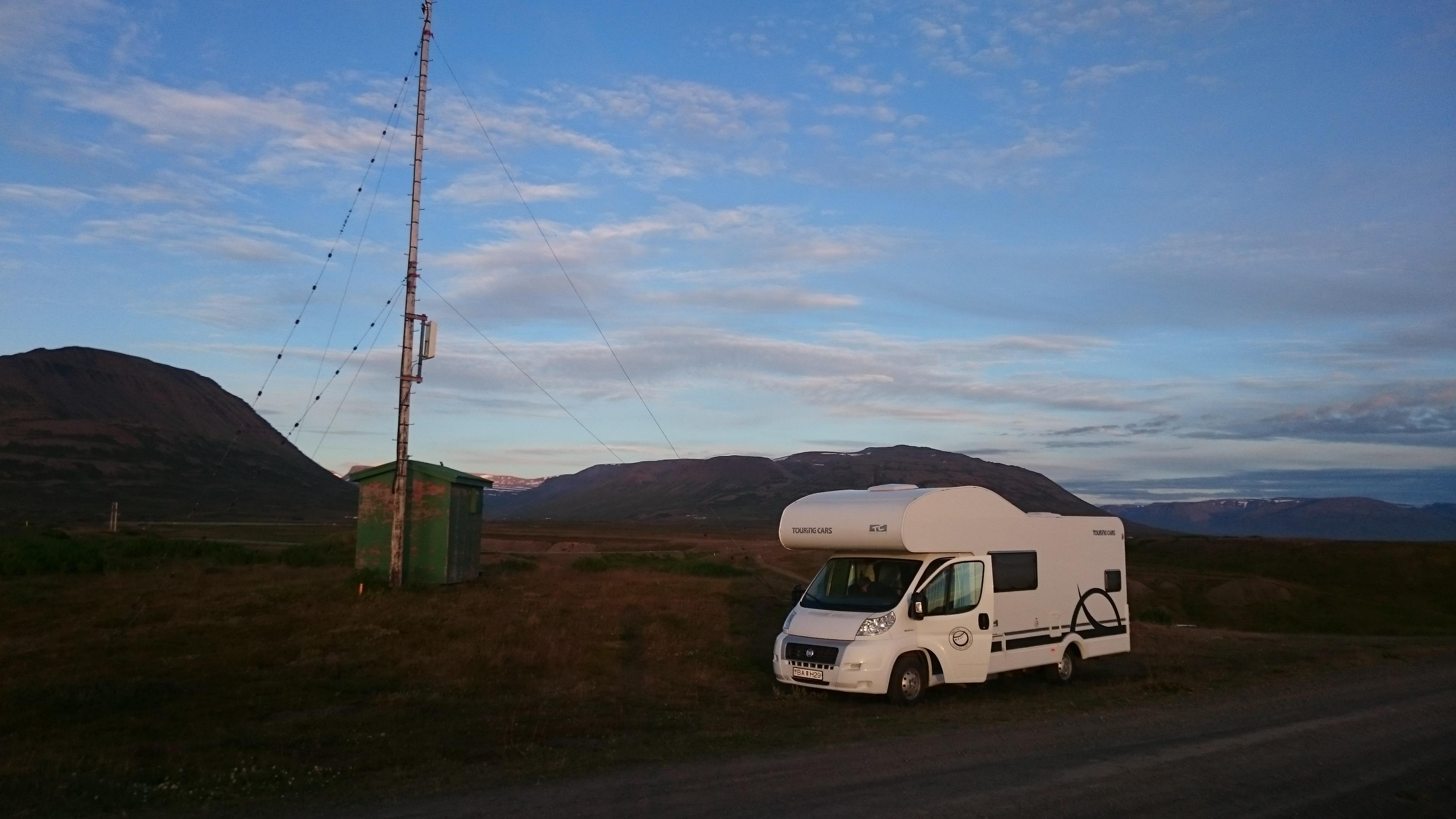 Stop et vue camping-car