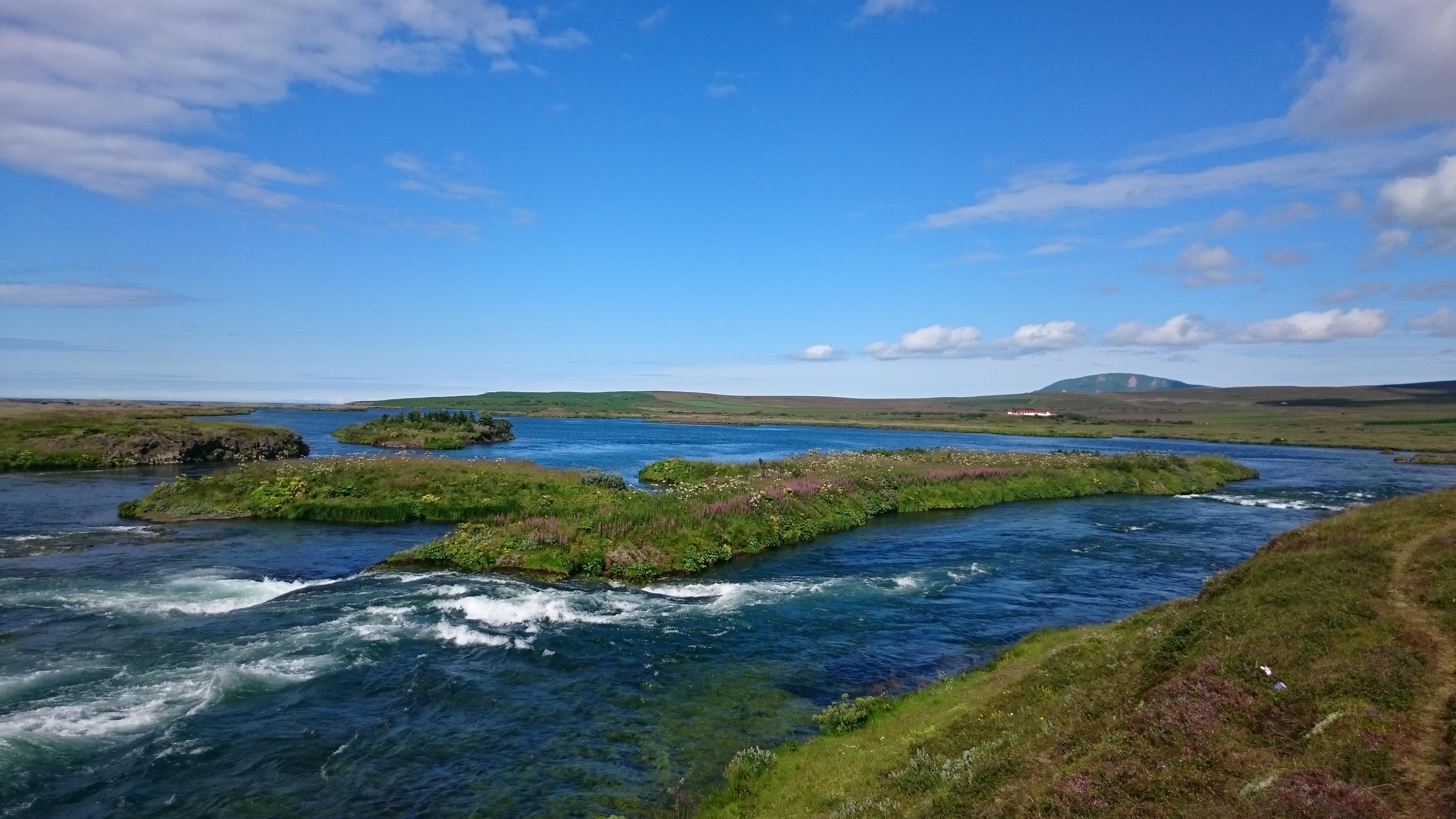 Green landscape Iceland motorhome
