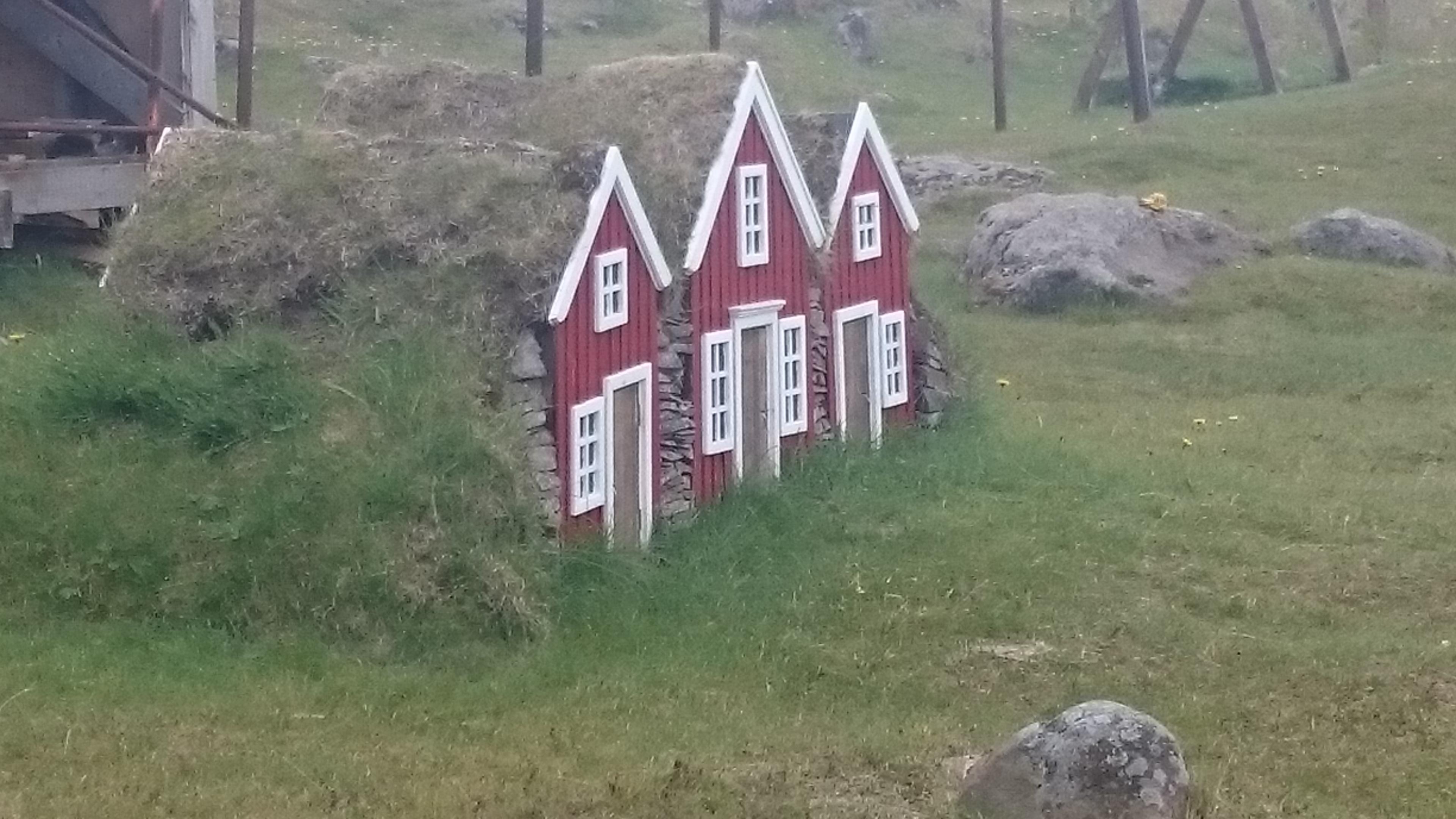 Maisons typiques Islande route