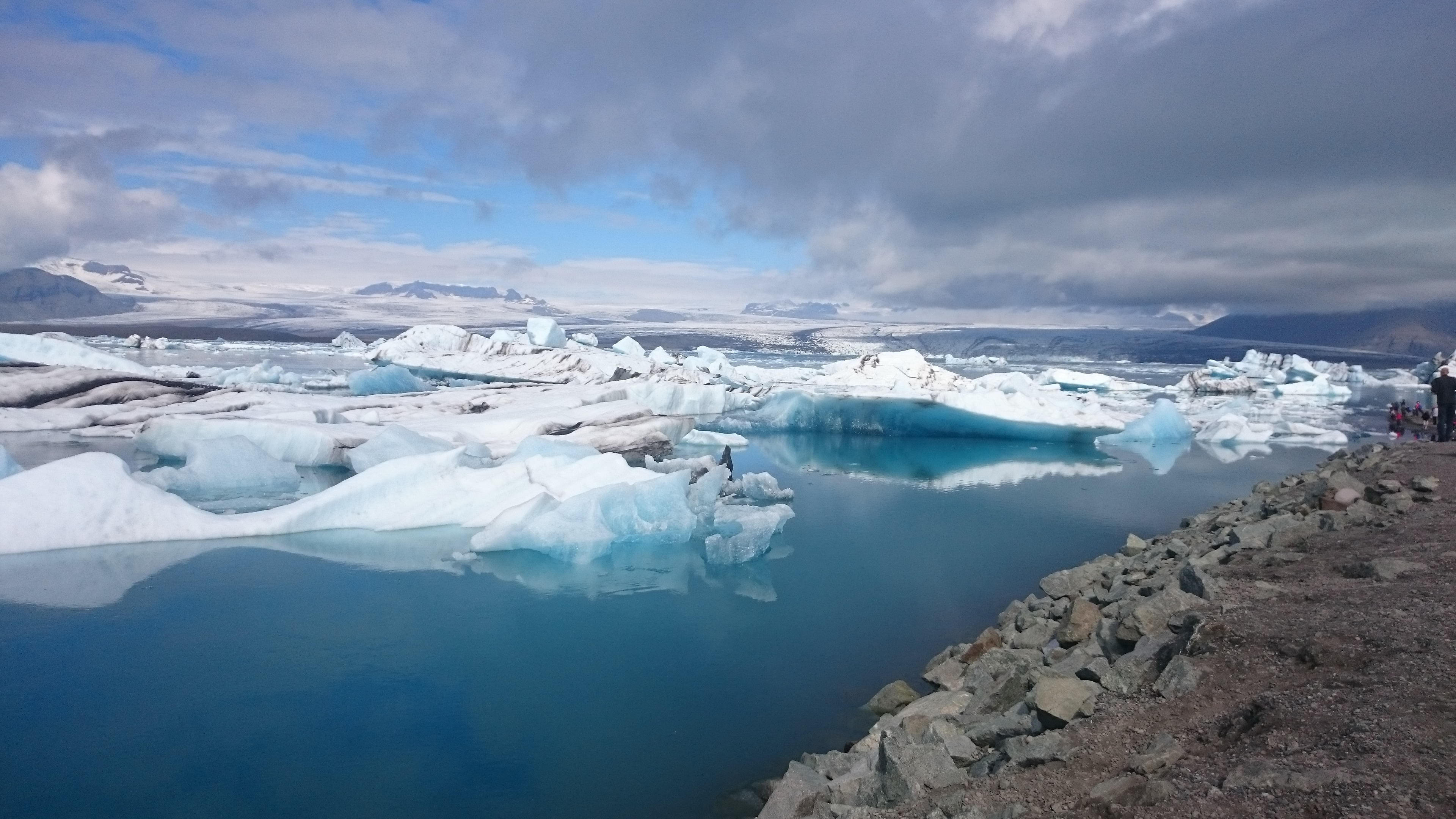 Paysage de glace Islande