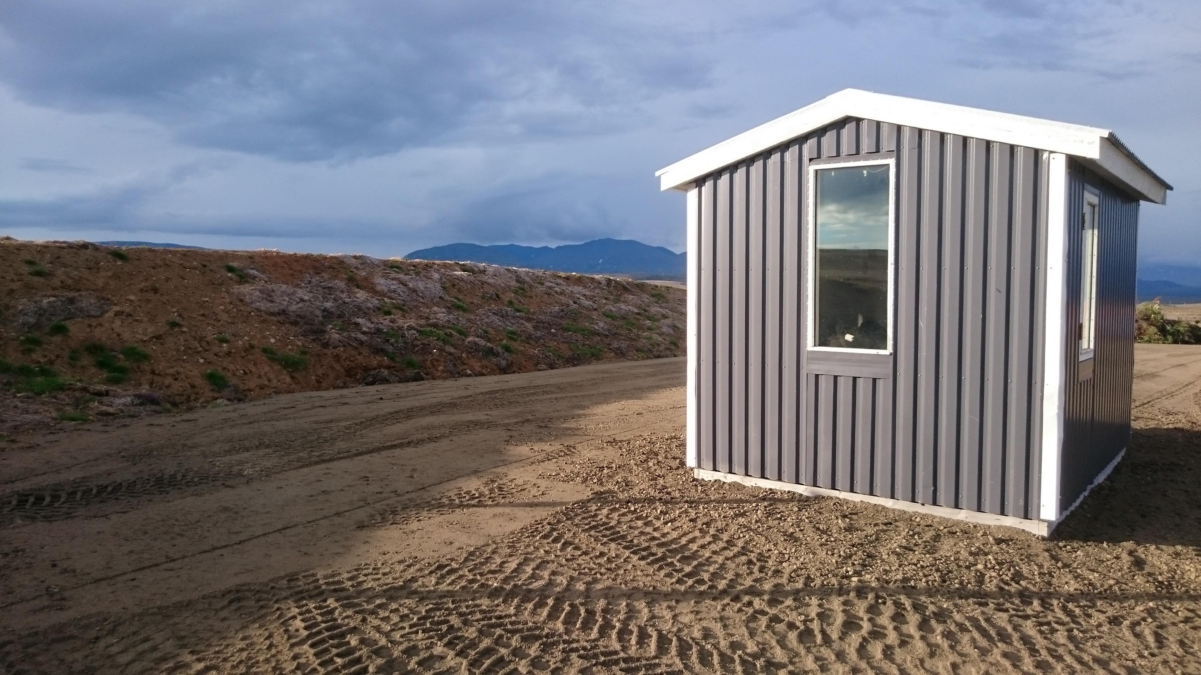 Cabane paysage camping-car