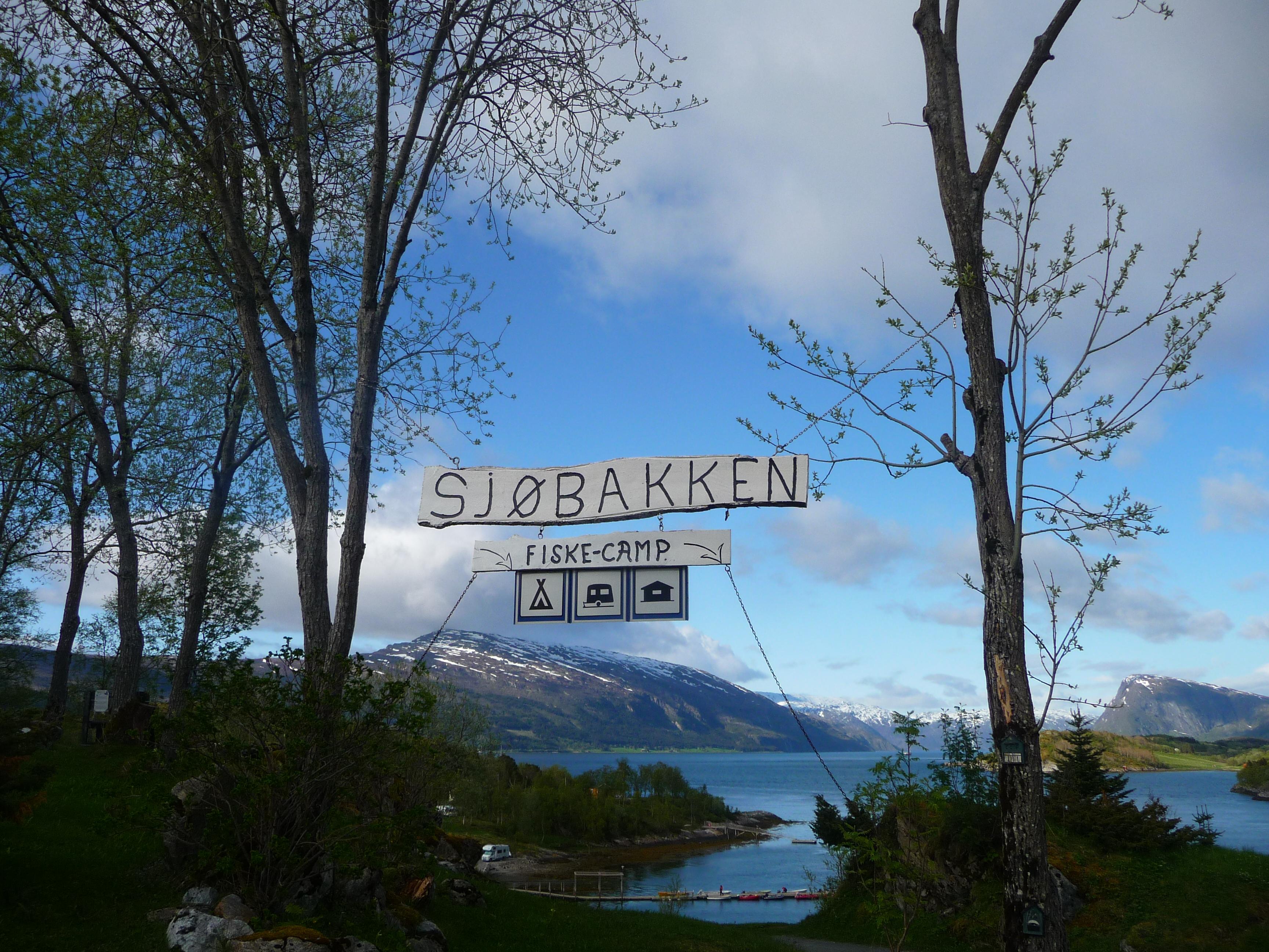 Entrée de camping, route17, Norvège